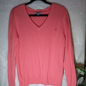IZOD WOMEN CORAL PULLOVER V-NECK SWEATER SZ. 1X